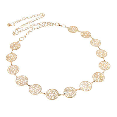 Adjustable Fashion Women Lady Dress Waist Chain Belt Gold Coin Party Jewelry • 4.27£