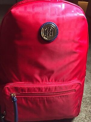 Tommy Hilfiger Nylon Backpack School Travel Bag Laptop Sleeve Red NWT •  36.99  4bdd8823afc04
