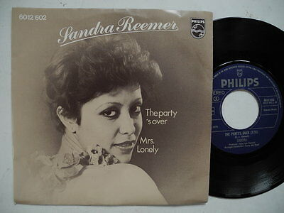 £6.56 • Buy SANDRA REEMER The Party's Over 45 7  Single 1976 Holland EUROVISION