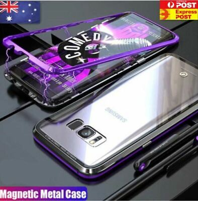 AU9.95 • Buy Magnetic Tempered Glass Metal Back Case Samsung Galaxy S8 S9 Plus Note 8 9