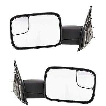 $99.49 • Buy Tow Mirror Set For 02 09 Dodge Ram 1500 Left & Right Side Manual Fold Blind Spot