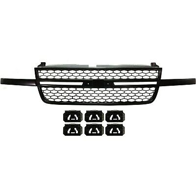 $135.49 • Buy Front Upper Black Grille Assembly For Chevy Silverado 1500 SS Pickup Truck New