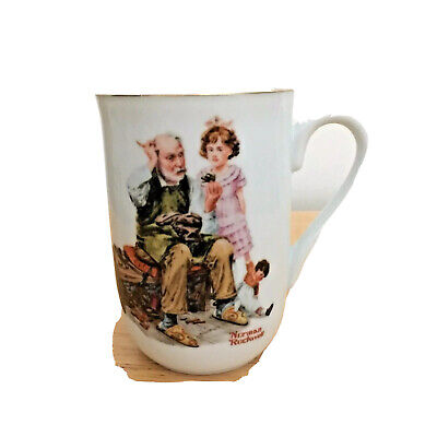 $ CDN21.29 • Buy Norman Rockwell Museum Collection  The Cobbler  Porcelain Coffee Mug 1982 ~ New
