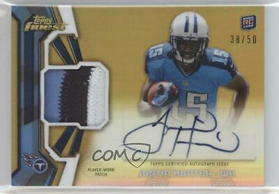 $16.64 • Buy 2013 Topps Finest Gold Refractor /50 Justin Hunter #RAP-JH RPA Rookie Patch Auto