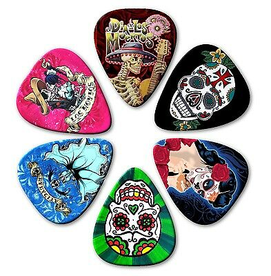 $ CDN4.90 • Buy 6 SUGAR SKULLS ~ Guitar Picks ~ Plectrums ~Printed Both Sides