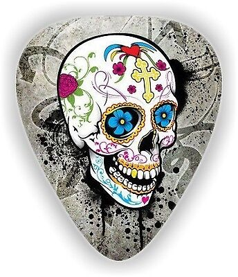 $ CDN5.88 • Buy 10 Sugar Skull ~ GUITAR PICKS ~ PLECTRUMS *Printed Both Sides*