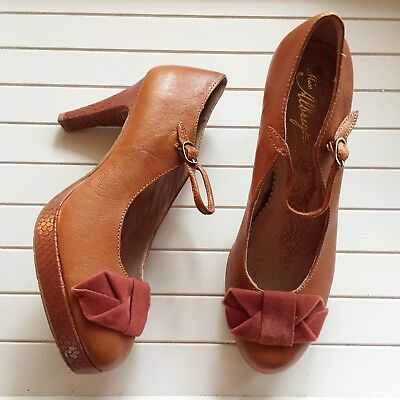 7ecf5025a63 Anthropologie Miss Albright Bow Lacerte Mary Jane Shoes Heels Size 7B New •  44.99