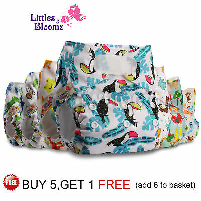 View Details Baby Washable Reusable Cloth Nappy Hook-Loop STANDARD Pocket Diaper Cover Wrap • 6.09£
