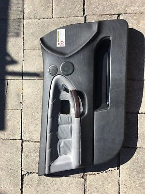 $139 • Buy 1997 E36 BMW M3 4dr Sedan Driver Door Panel Gray Leather With Wood Trim