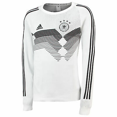 Germany Knitted Football Home Jersey Shirt Tee Top 2018 Long Sleeve Mens Adidas • 169.99£
