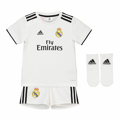 Real Madrid Home Baby Kit Shirt Shorts Jersey Suit Soccer 2018 19 Football  • 58.35€ 4944d443545ab