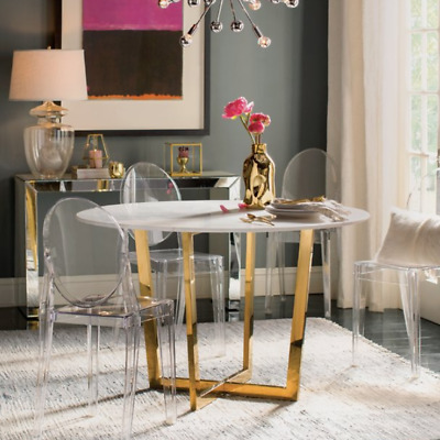 $237.99 • Buy Set Of 4 Ghost Dining Side Chair In Transparent Crystal Table Side Chairs Clear