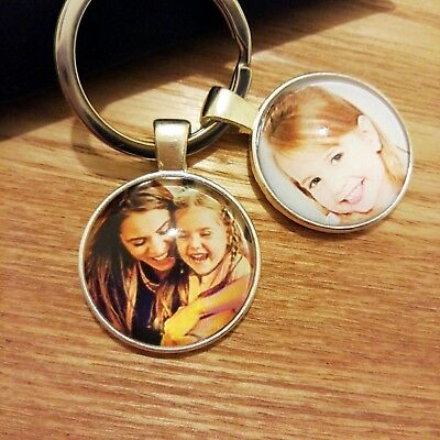 £6.59 • Buy Personalised Custom Photo Keyring Chain Mothers Day Dad Mum Birthday Gifts