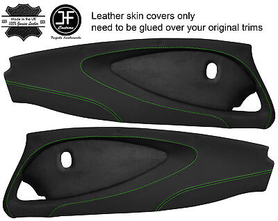 $ CDN349.31 • Buy Green Stitch 2x Full Door Card Nappa & Suede Covers For Lotus Elise S2 Style 2