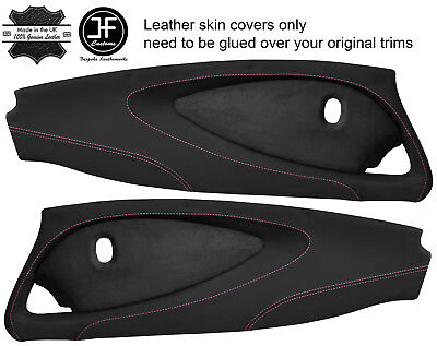 $ CDN349.31 • Buy Pink Stitch 2x Full Door Card Nappa & Suede Covers For Lotus Elise S2 Style 2