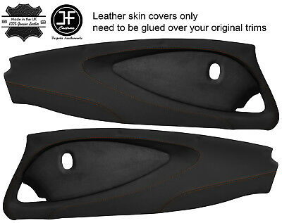 $ CDN349.31 • Buy Brown Stitch 2x Full Door Card Nappa & Suede Covers For Lotus Elise S2 Style 2