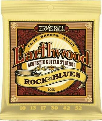 AU12.95 • Buy ERNIE BALL 2008 Acoustic Guitar Strings EARTHWOOD 80/20 10-52 Rock & Blues