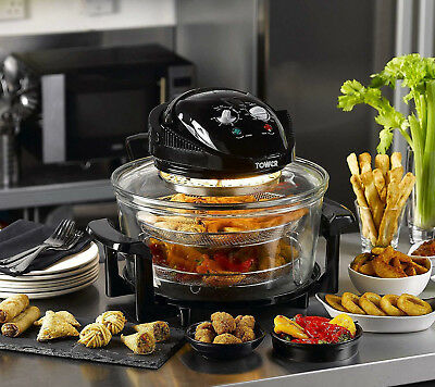 View Details Tower 17L AirWave Low Fat Air Fryer Oil Free Healthy Halogen Cooker Oven Fry  • 34.99£