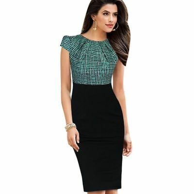 AU44.95 • Buy Printed Office Woman Dress Slim Fit Stylish Stretchable Knee Length Clothes Wear