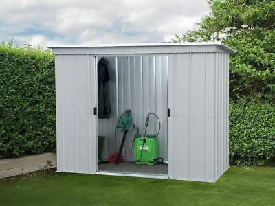 Metal Garden Storage Unit Shed Outdoor Bike Tools Patio 6 X 4Ft Lockable Doors • 164.01£