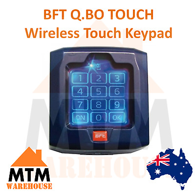 AU175.50 • Buy BFT Q.BO TOUCH Wireless Digital Touch Keypad Garage & Gate Access Control System