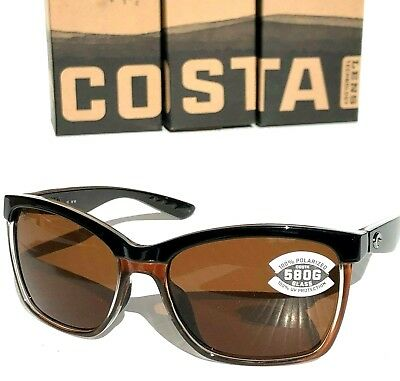 a074060567 NEW  COSTA Del Mar ANAA Black POLARIZED 580G Bronze Glas Womens Sunglass ANA  107 •