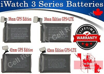 $ CDN13.75 • Buy Apple Watch IWatch Series 3  38mm / 42mm Li-on Rechargeable Replacement Battery