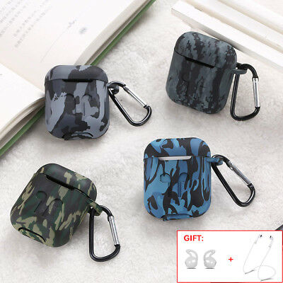 $ CDN5.51 • Buy For Apple AirPods Earphones Camouflage Case Silicone AirPod Protector Cover Skin