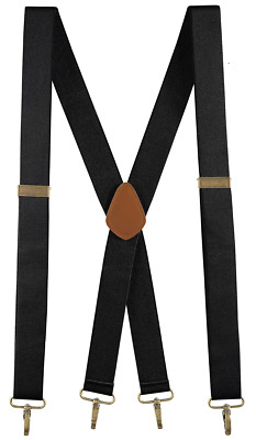 $11.98 • Buy Buyless Fashion Men Adjustable Suspenders 48  1 1/4  X Back With Metal Hooks