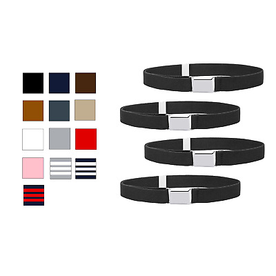 $11.98 • Buy Buyless Fashion Kids Boys Adjustable Elastic Stretch Belt With Buckle 4 Pack