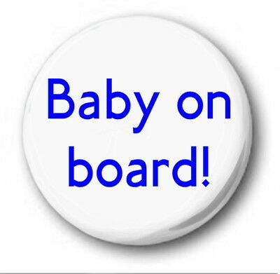 £0.99 • Buy BABY ON BOARD! - 25mm 1  Button Pin Badge - Pregnant Mother LONDON Tube Font