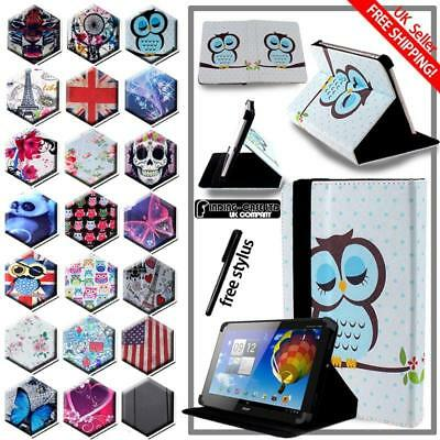For Various 10  Acer Iconia Tab Tablet - Folio Stand Leather Cover Case + Stylus • 5.99£