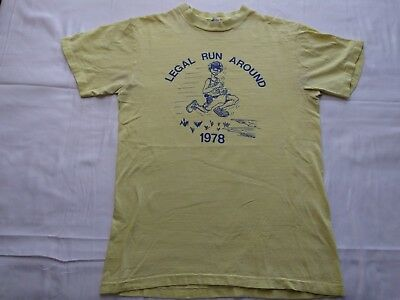 $ CDN48.51 • Buy Vintage 1978 Legal Run Around T-Shirt Size M 70s Running Race Cops