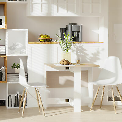 £44.99 • Buy Wooden Folding Butterfly Drop Leaf Dining Table Desk Particle Board Kitchen Home