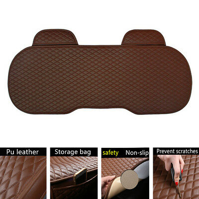 $27.09 • Buy 1pcs Car Parts Rear Seat Cover Brown PU Leather Pad Mat Chair Cushion Universal