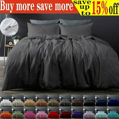 AU22.39 • Buy Tailored 1000TC Duvet/Doona/Quilt Cover Set Single/Double/Queen/King Size Bed AU
