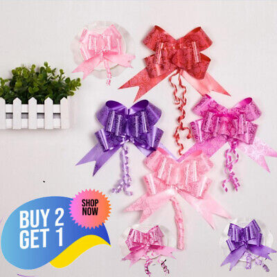 $8.45 • Buy 50pc Pull Bows 30mm Large Small Florist Ribbon Wedding Car Gift Wrap Decorations