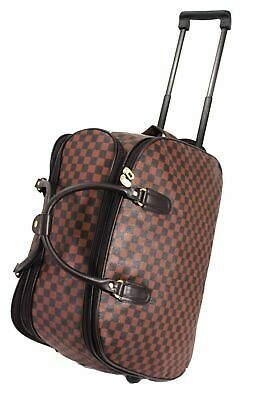 £21.99 • Buy New Cabin Approved Trolley Case Hand Luggage Holdall Suitcase Carry On Bag Brown