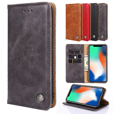AU7.71 • Buy For LG G7 ThinQ G6 G5 LG Q7 V30 Luxury Business Flip Wallet Leather Cover Case