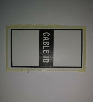 £2.49 • Buy X100 Self Adhesive Cable ID Stickers Labels
