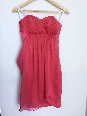 AU49.90 • Buy Womens Clothing Forever New Coral/Soft Red Silk Dress Size 8