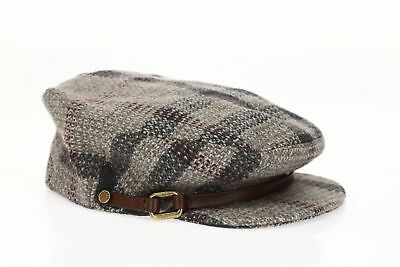 7dfcecbc6d35 Burberry 147604 Women s Smoked Trench Check Wool Flat Cap Sz M • 273.75