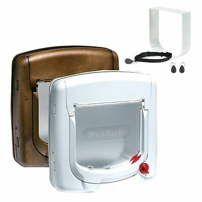 Cat Flap Petsafe Staywell Deluxe 4 Way Locking Cat Door Manual Magnetic Catflap • 35.22£