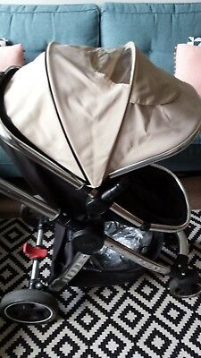 £150 • Buy Mothercare Tan 4-wheel Journey Chrome Travel System Pushchair And Car Seat