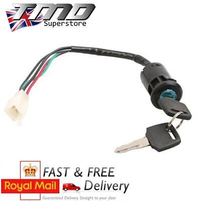 Motorcycle Key Barrel Ignition Switch 4 Wire On/Off Universal Quad Motorbike • 5.45£