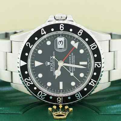 $ CDN14031.15 • Buy Rolex GMT-Master II Black Dial 40MM Steel Oyster Mens Watch 16710  No Holes