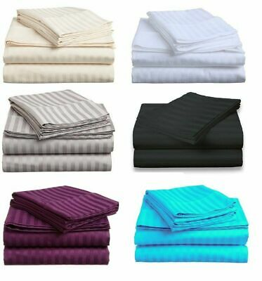 AU38.99 • Buy 1000TC Cotton Blended 4 Pcs FITTED & FLAT Sheet Set Double/Queen/King Size Bed