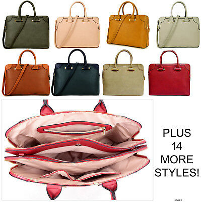 Ladies Laptop Bag Briefcase Womens Work Bag Large Tote Designer Office Handbag • 24.94£