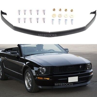 $109.99 • Buy Fits 05-09 Ford Mustang V6 Only Ik Style Pu Black Front Chin Bumper Lip Spoiler