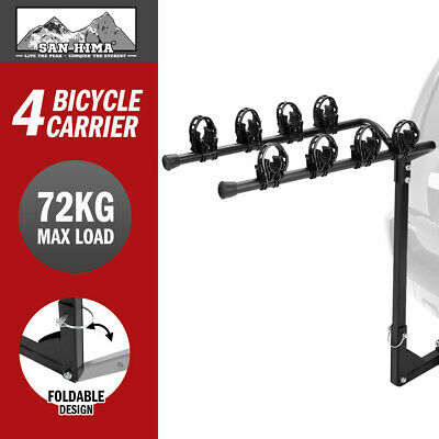 AU116.95 • Buy 4 Bicycle Carrier Bike Car Rear Rack 2  TowBar Steel Foldable Hitch Mount